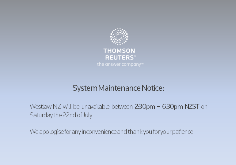 July 2017 Maintenance NZ